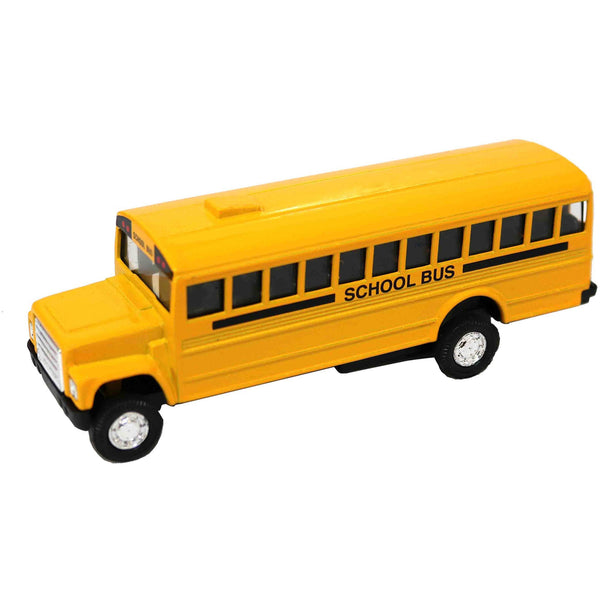 Die Cast Pull Back School Bus