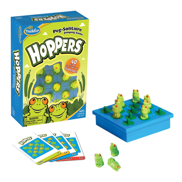 ThinkFun Hoppers Peg Solitaire  jumping game canada ontario solo