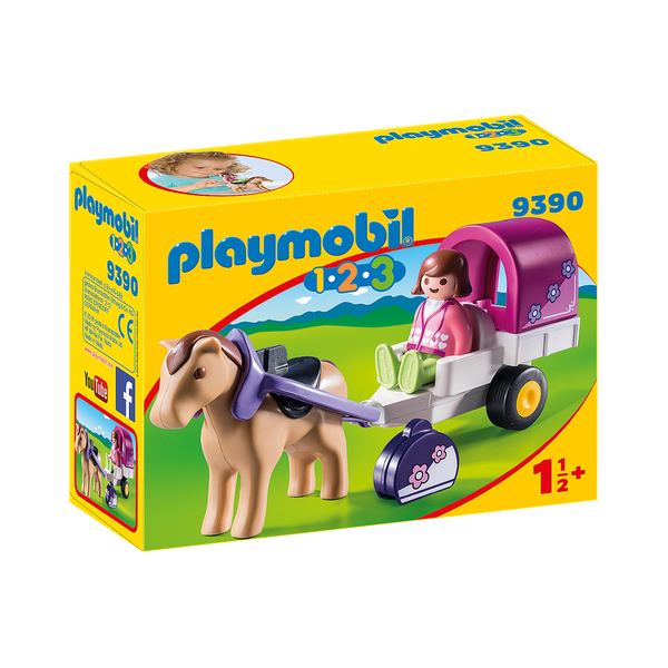 Playmobil 123 Horse-Drawn Carriage 9390 canada ontario
