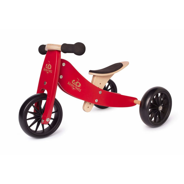 Kinderfeets Tiny Tot 2 in 1 Convertible Bike Cherry Red canada ontario wooden balance