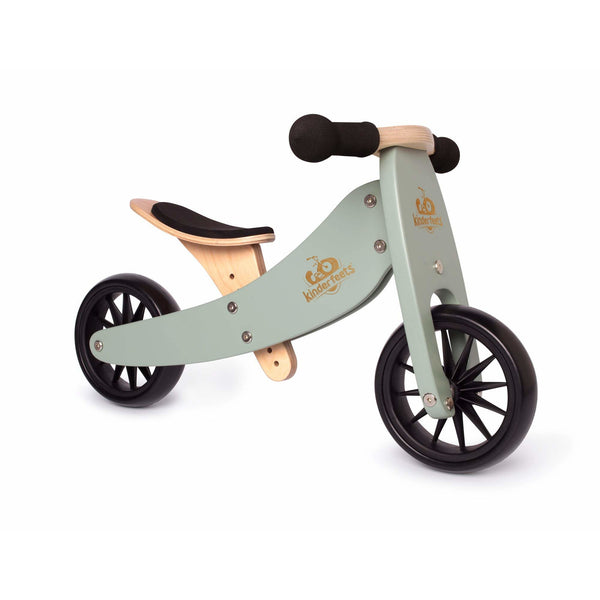 Kinderfeets Tiny Tot 2 in 1 Convertible Bike Sage green balance ontario canada wooden