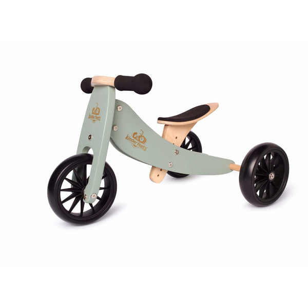 Kinderfeets Tiny Tot 2 in 1 Convertible Bike Sage green balance ontario canada