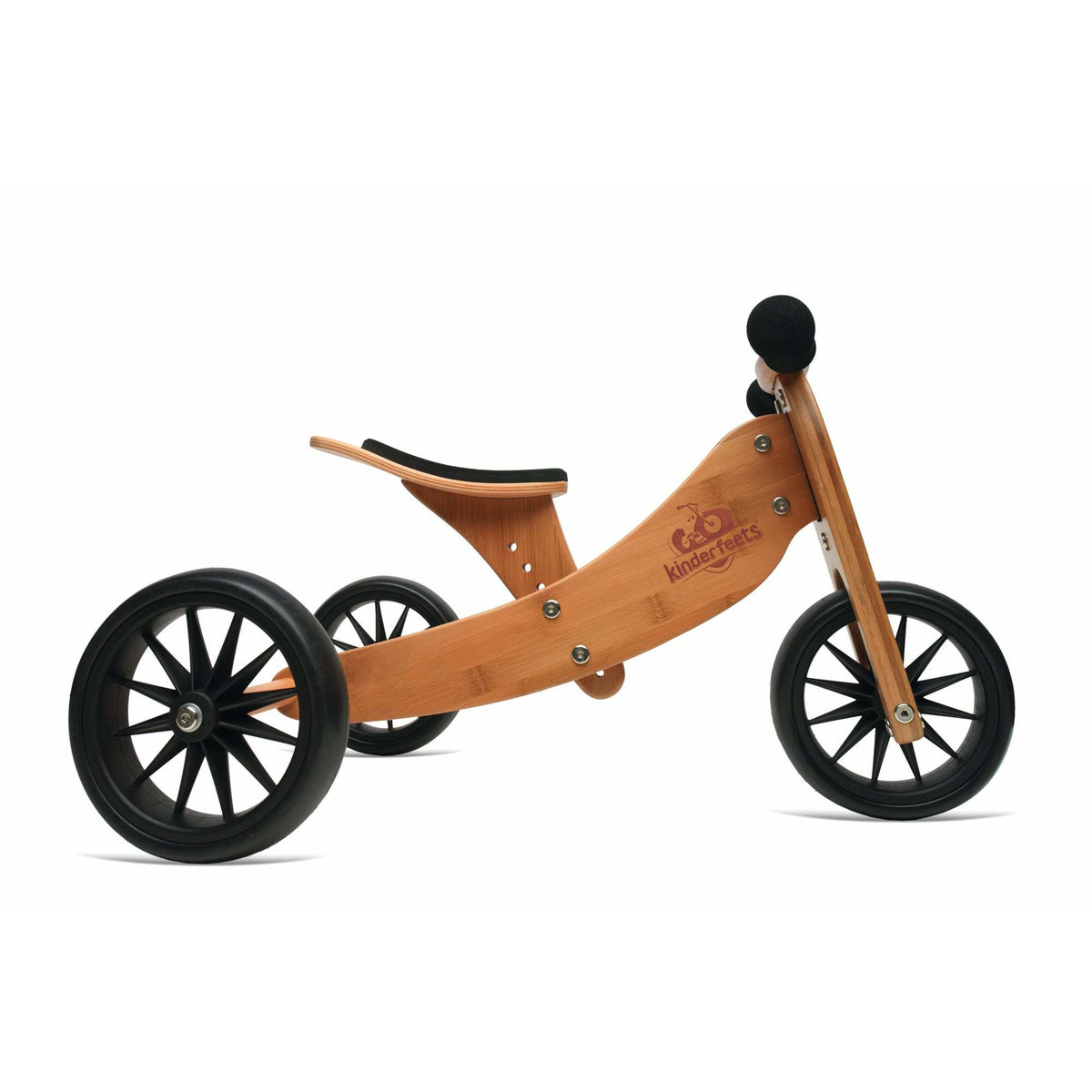 Kinderfeets Tiny Tot 2 in 1 Balance Bike Natural Bamboo canada ontario wooden