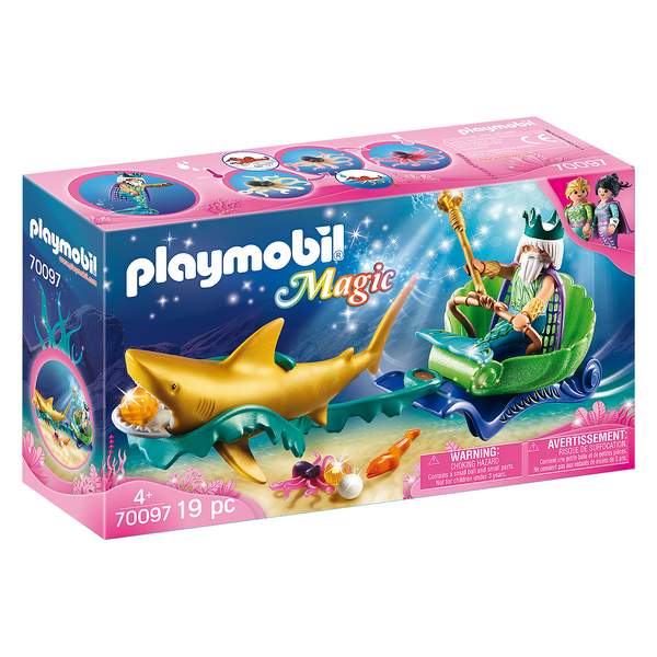 Playmobil Magic King of the Sea with Shark Carriage golden mermaid toy canada ontario 70097
