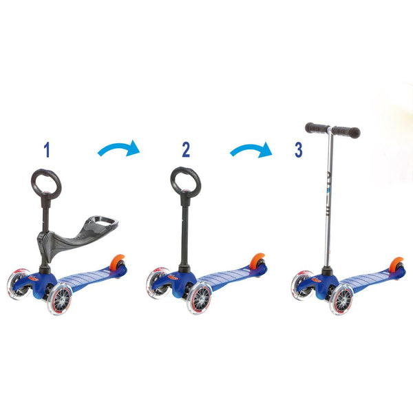 Mini Micro 3 in 1 Kickboard Seat Scooter Blue canada ontario toronto ottawa montreal kingston toddler infant child