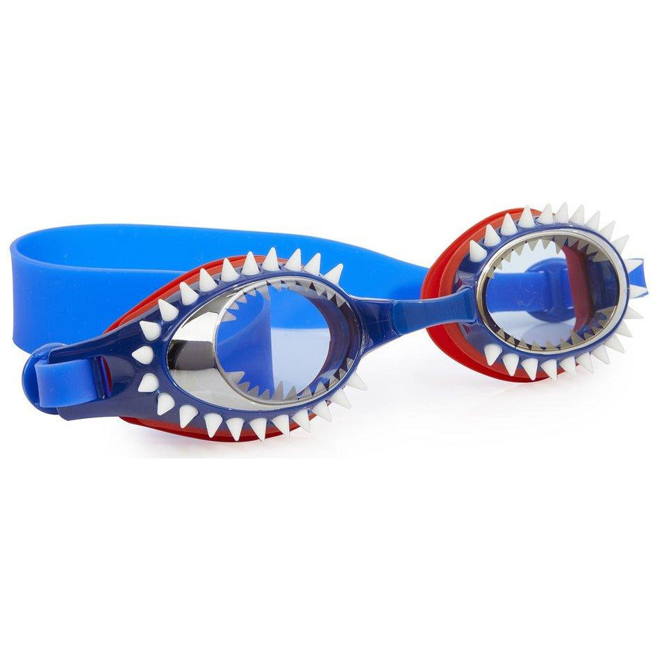 Bling2o Fish n Chips Swim Goggles Tiger Shark Navy