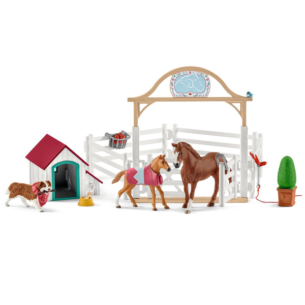 Schleich Horse Club Hannah's Guest Horses with Ruby the Dog 42458 canada ontario