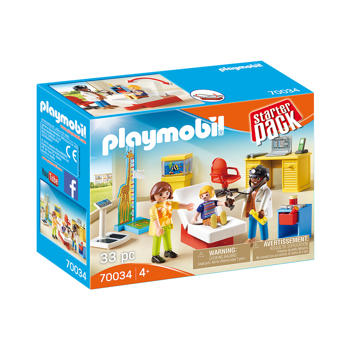 Playmobil Starter Pack Pediatrician's Office 70034 canada ontario toy