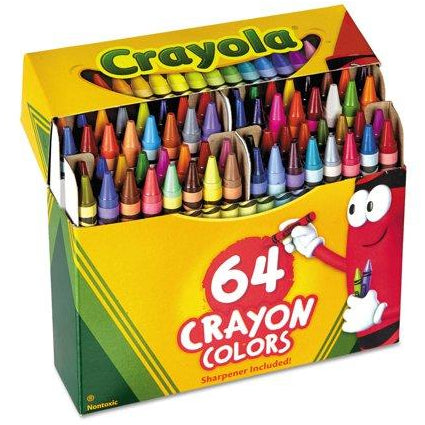 Crayola Crayons with Sharpener 64 Pack