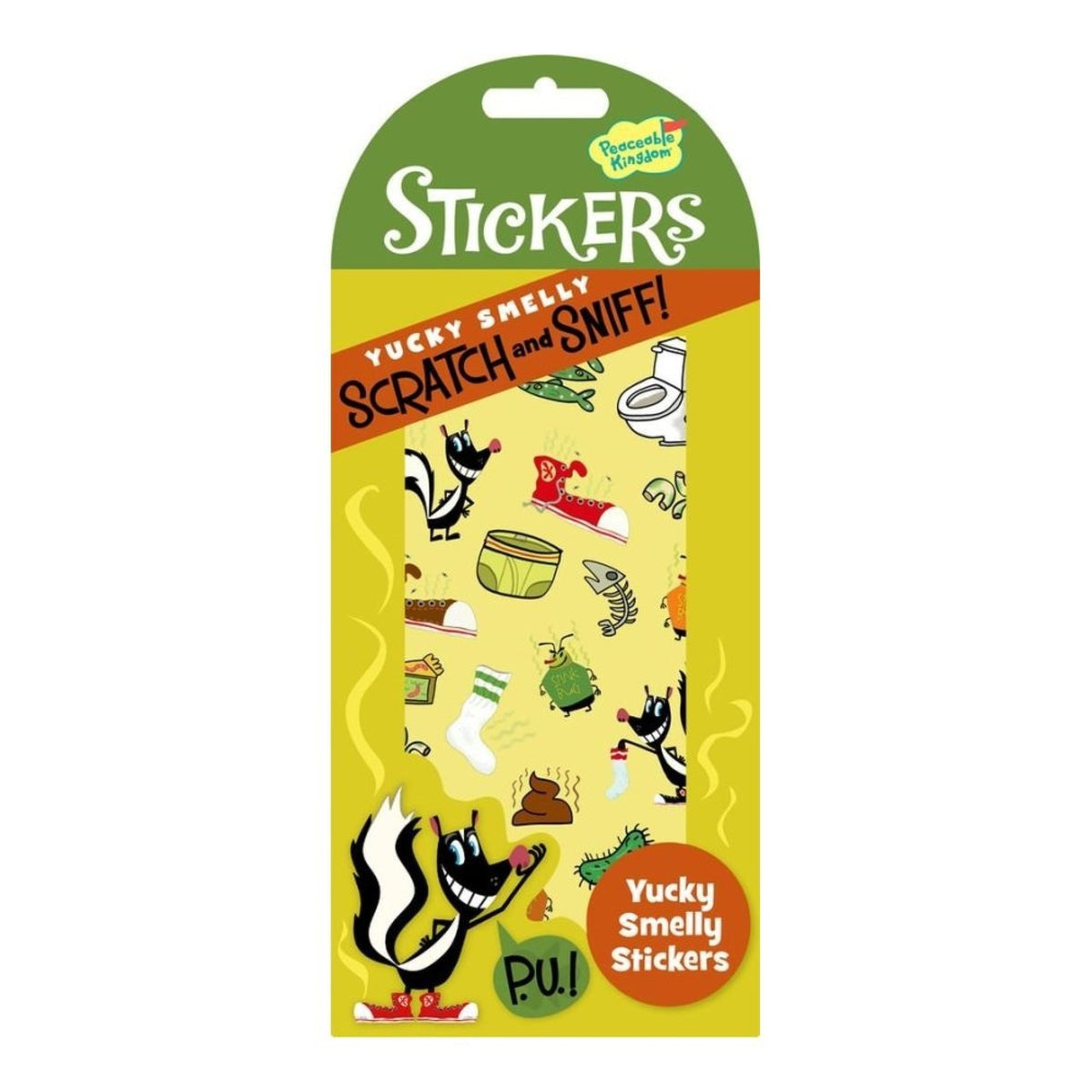 Peaceable Kingdom Yucky Smelly Scratch & Sniff Stickers canada ontario skunk stinky kingston