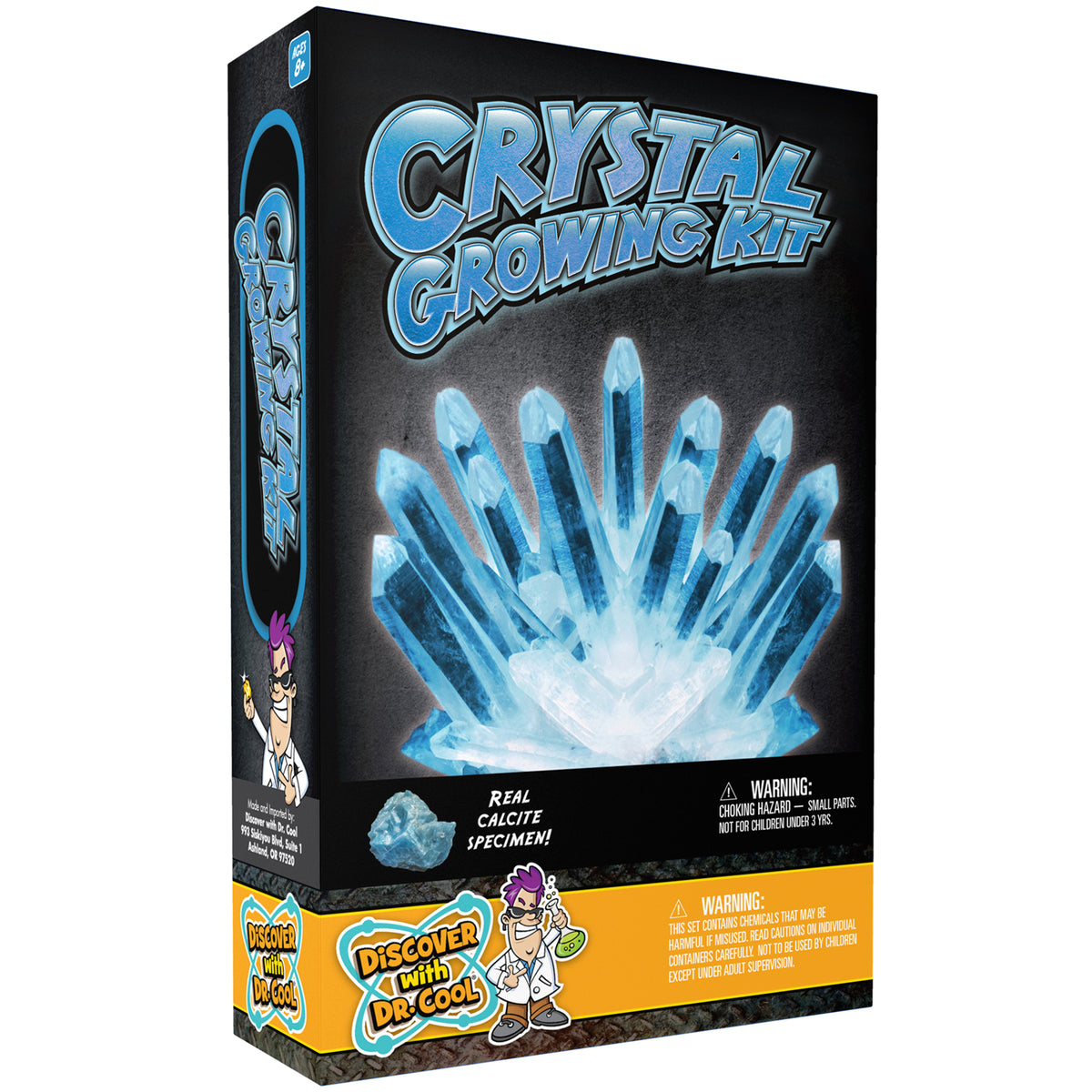 Discover with Dr. Cool Growing Crystal Kit Blue
