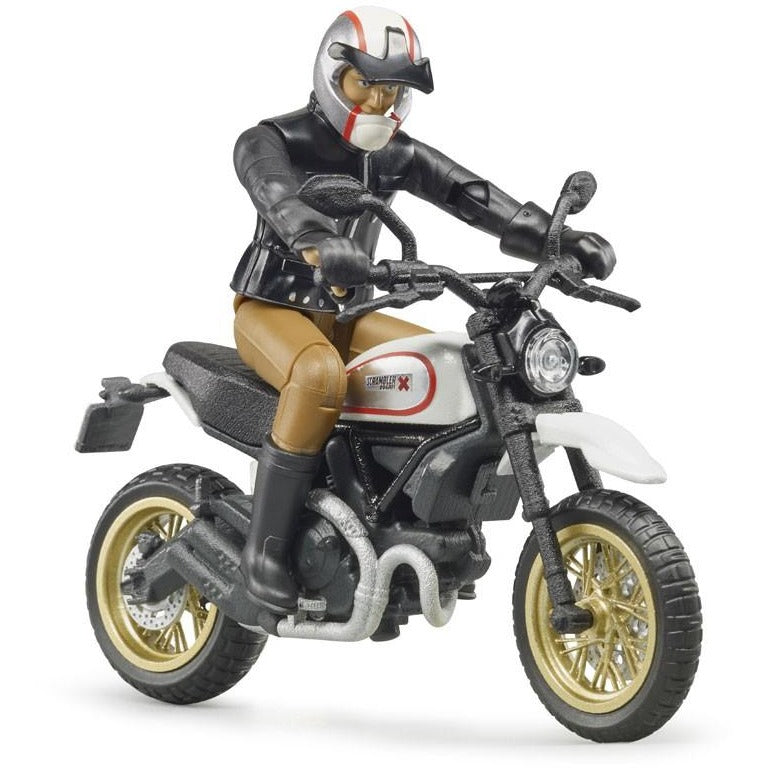 Bruder Scrambler Ducati Desert Sled Motorcycle with Driver