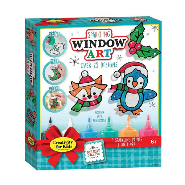 Creativity for Kids Holiday Sparkling Window Art canada ontario 6199 christmas