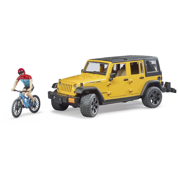 Bruder Jeep Wrangler Rubicon with Mountain Bike and Figure 02543 canada ontario