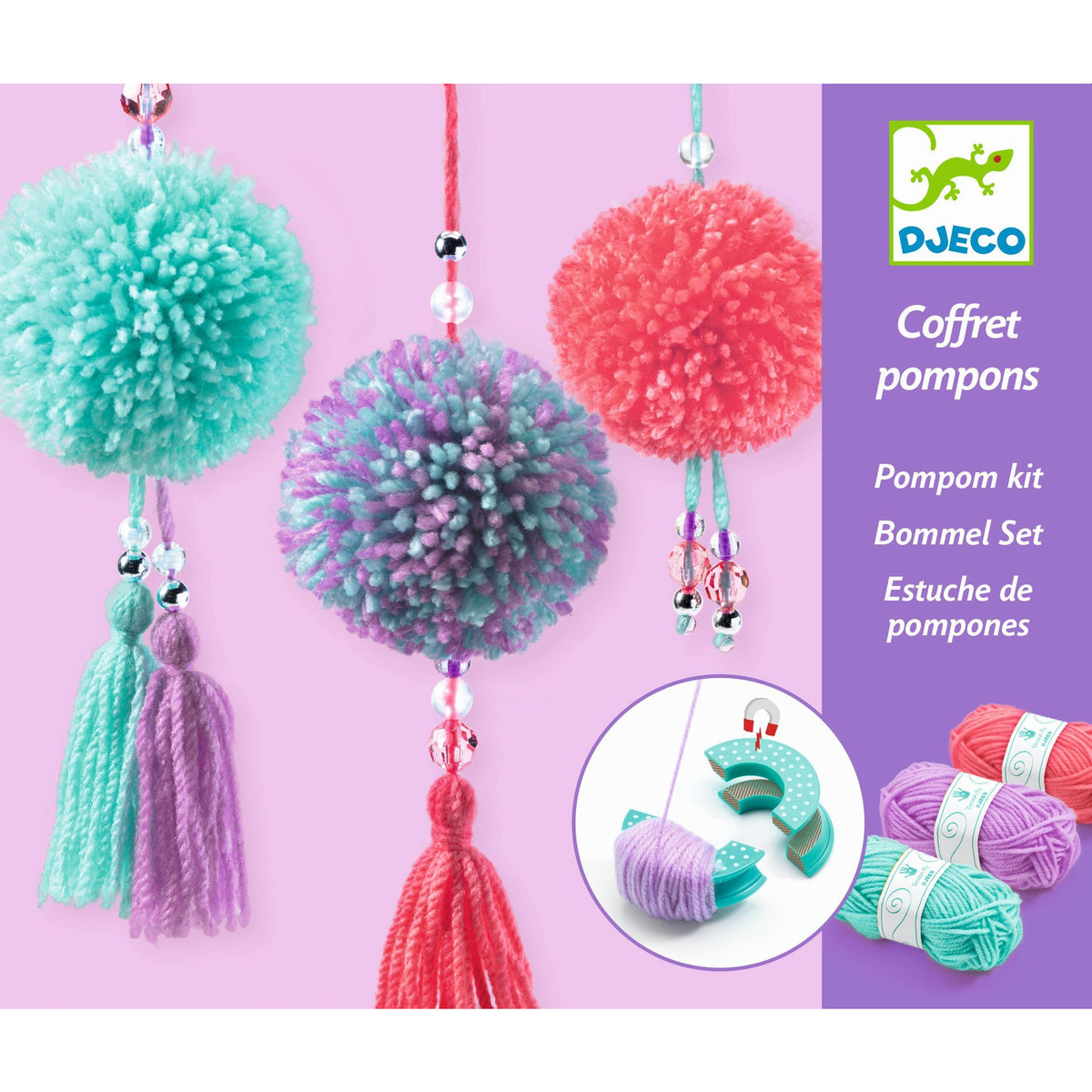 Djeco PomPom Pendants jewelery kit making fashion canada ontario