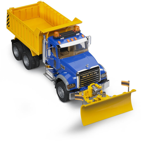 Bruder MACK Dump Truck with Snow Plow Blade 02825