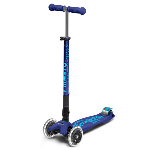 MICRO Maxi Deluxe Foldable LED Scooter Navy Blue canada ontario