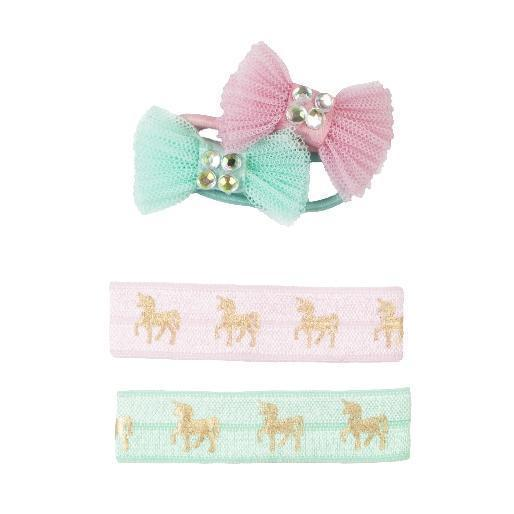 Great Pretenders Pink Unicorn Hair Ties and Bows 88768 canada ontario
