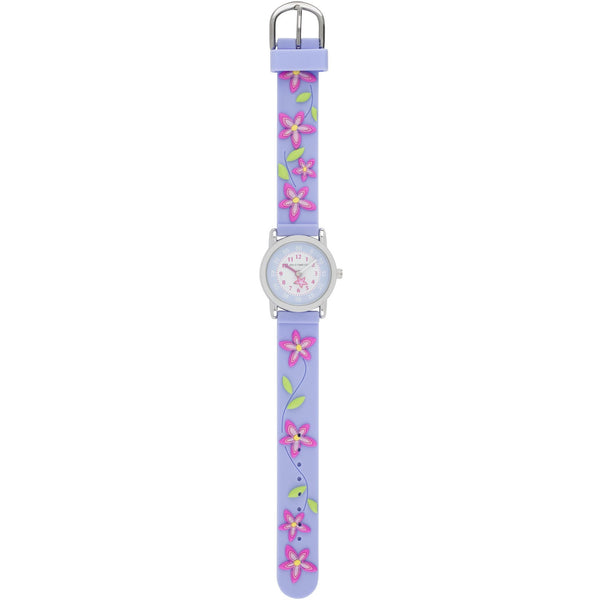Solo Time Children's Quartz Watch Purple Blossom canada ontario flowers