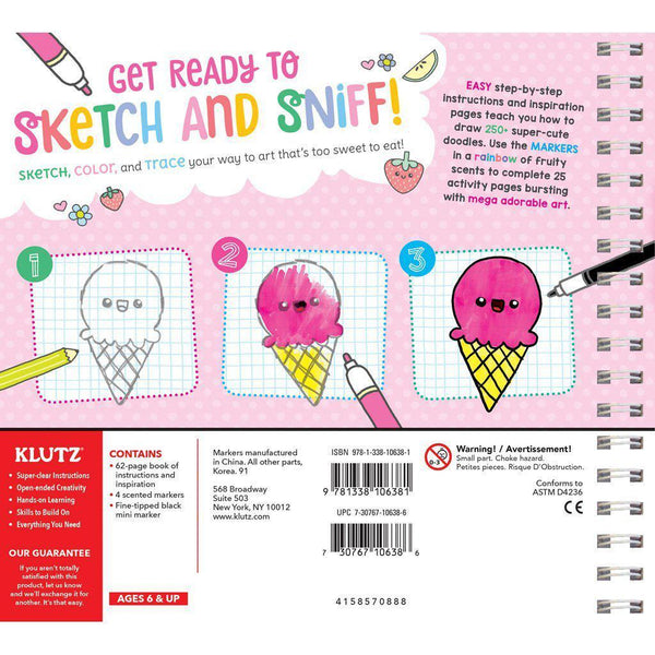 Klutz My Super Sweet Scented Sketchbook scratch sniff how to canada ontario