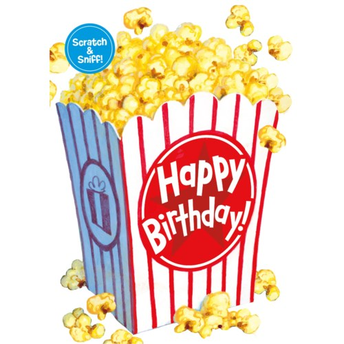 Peaceable Kindgdom Birthday Card Scratch & Sniff Popcorn canada ontario