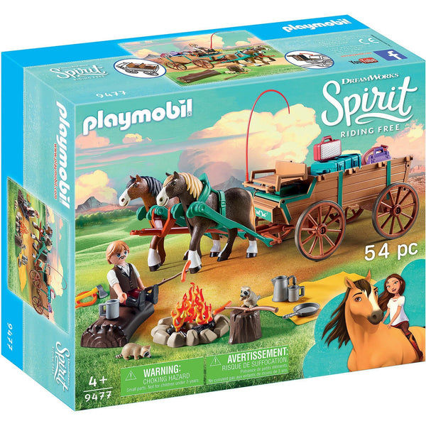 Playmobil Spirit Riding Free Lucky's Dad and Wagon 9477
