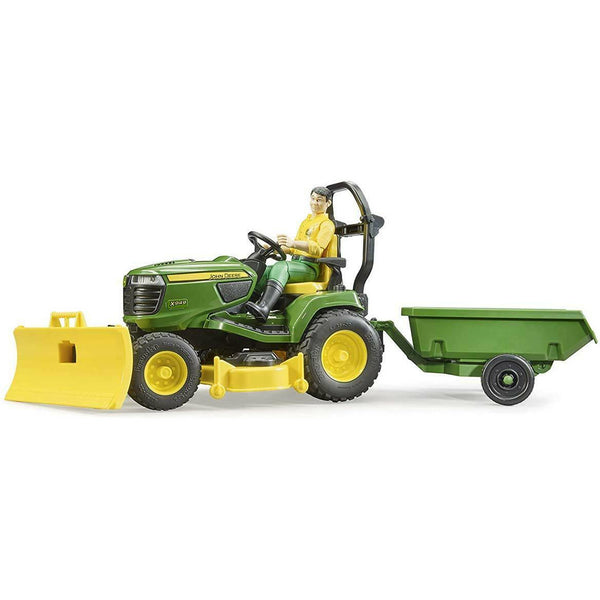 Bruder bworld John Deere Lawn Tractor with Trailer 09824 canada ontario