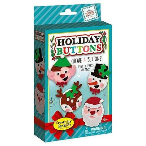 Creativity for Kids Holiday Buttons Mini Kit