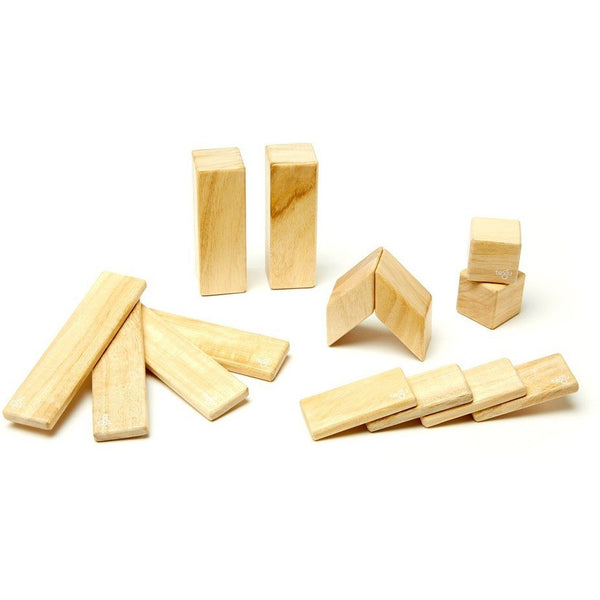 Tegu Magnetic Wooden Block 14 Piece Set - Natural canada ontario sustainable toddler toy