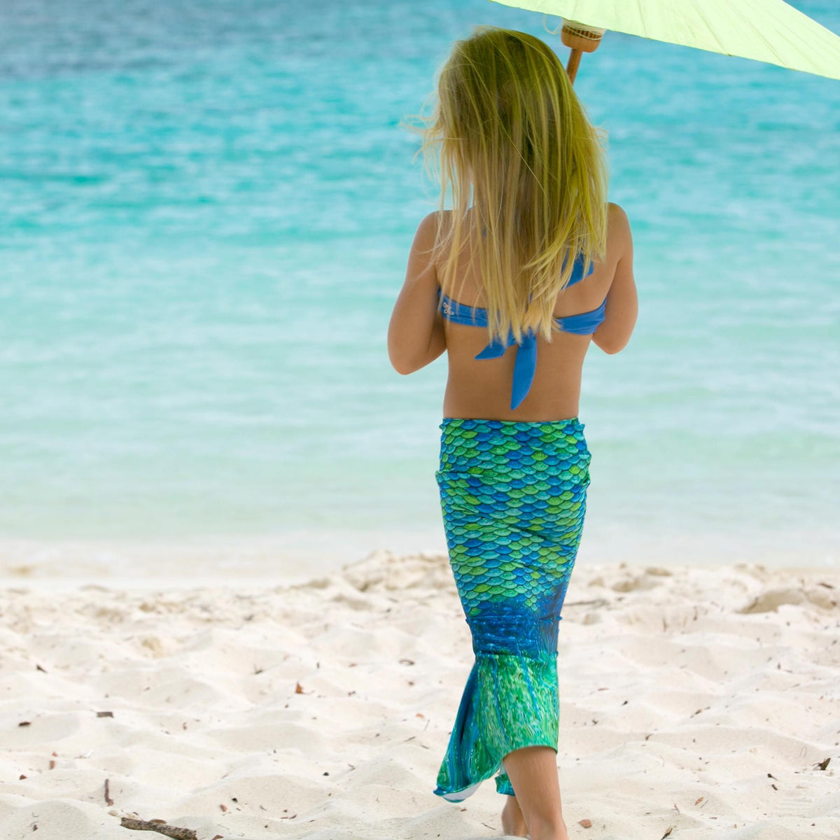 Fin Fun Mermaid Tail and Top Aussie Green