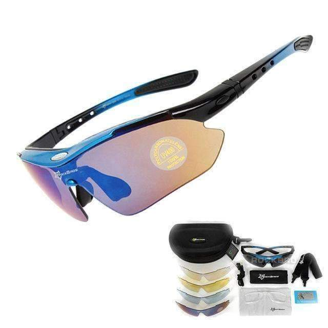 900682b4ea0 RockBros Polarized Cycling Sun Glasses with 5 Replacement Lenses and A –  Sales Grabz