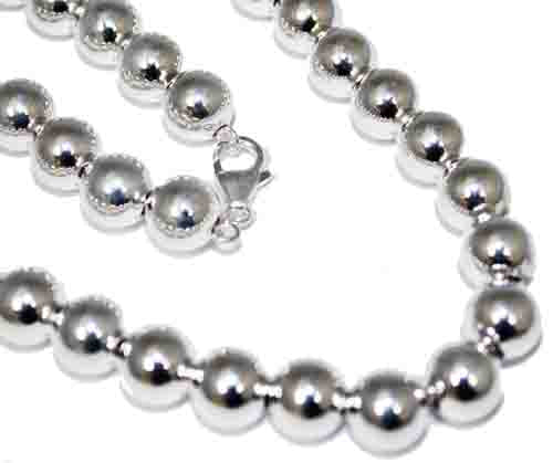 "Sterling Silver 10 mm Loose Round Bead Necklace In 16""-30'' atlanta-jewelers-supply.myshopify.com"