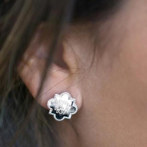 Sterling Silver Quarterfoil Stud Earring - atlanta-jewelers-supply