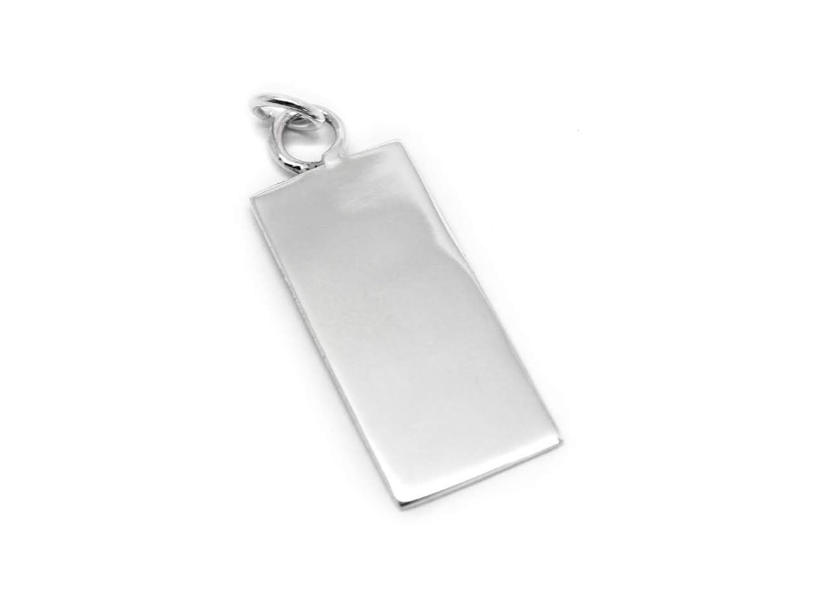 Sterling Silver 39mm Tall Dog Tag atlanta-jewelers-supply.myshopify.com