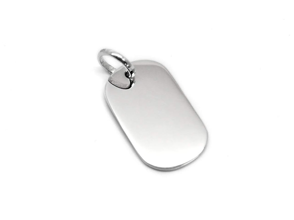 Sterling Silver 30mm Tall and Oval Dog Tag atlanta-jewelers-supply.myshopify.com