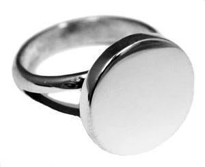 Sterling Silver Plain Round Engravable Ring with Split Band - Atlanta Jewelers Supply