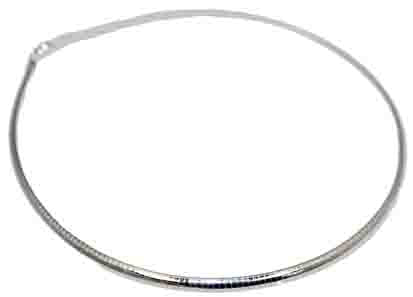 Sterling Silver 4 mm Flat Omega With Lobster Lock - Atlanta Jewelers Supply