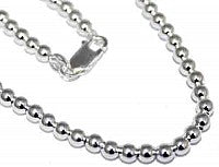 "Sterling Silver 4 mm Loose Round Bead Necklace In 16""-30'' atlanta-jewelers-supply.myshopify.com"