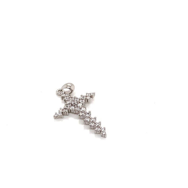 PRETTY LITTLE CZ STERLING SILVER CROSS PENDANT - Atlanta Jewelers Supply