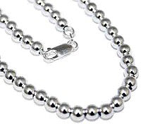 "Sterling Silver 5 mm Loose Round Bead Necklace In 16""-24'' atlanta-jewelers-supply.myshopify.com"