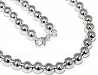 "Sterling Silver 7 mm Loose Round Bead Necklace In 16""-30'' atlanta-jewelers-supply.myshopify.com"