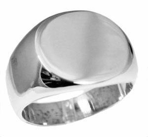 Sterling Silver Men's Engravable Plain Round Ring - Atlanta Jewelers Supply