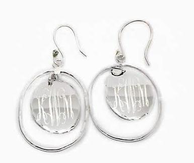 German Silver Engravable Oval Shape Earrings - Atlanta Jewelers Supply