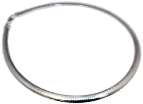 Sterling Silver 8 mm  Flat Omega With Lobster Lock - Atlanta Jewelers Supply