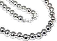 "Sterling Silver 8 mm Loose Round Bead Necklace In 16""-30'' atlanta-jewelers-supply.myshopify.com"