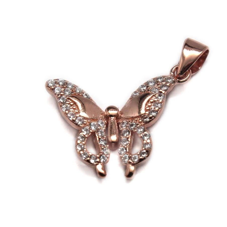 Sterling Silver Butterfly Pendant atlanta-jewelers-supply.myshopify.com