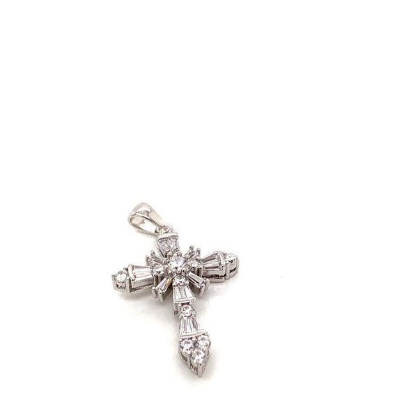 DESIGNER INSPIRED STERLING SILVER CZ CROSS PENDANT - Atlanta Jewelers Supply