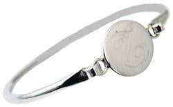 Sterling Silver Engravable Round Bangle Bracelet - Atlanta Jewelers Supply