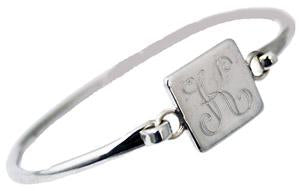 Sterling Silver Engravable Square Bangle Bracelet - Atlanta Jewelers Supply