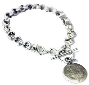 Sterling Silver Charm Link Bracelet On A Toggle Clasp - Atlanta Jewelers Supply